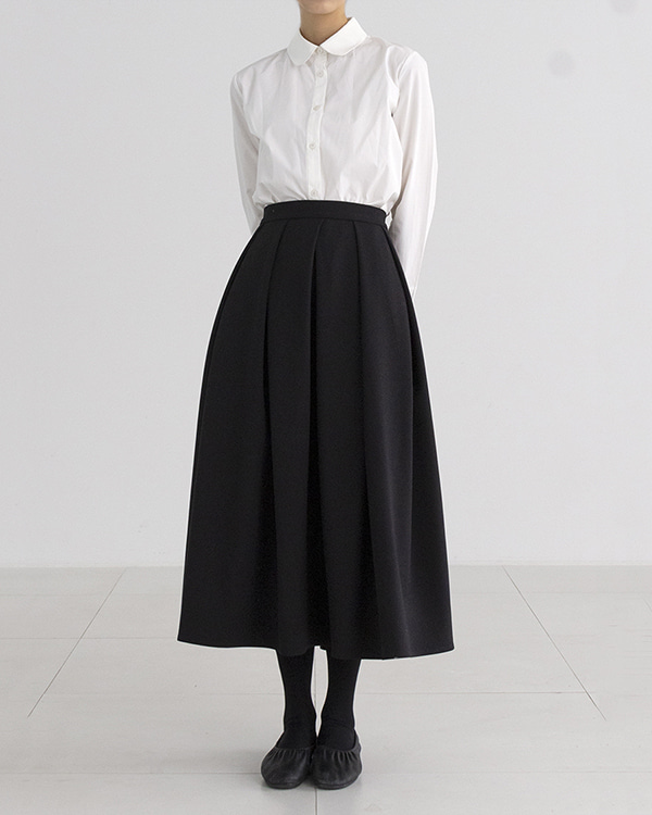 [black label] round collar blouse (sold out)