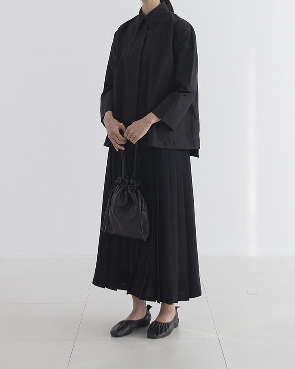 [black label] basic pleats skirt (sold out)