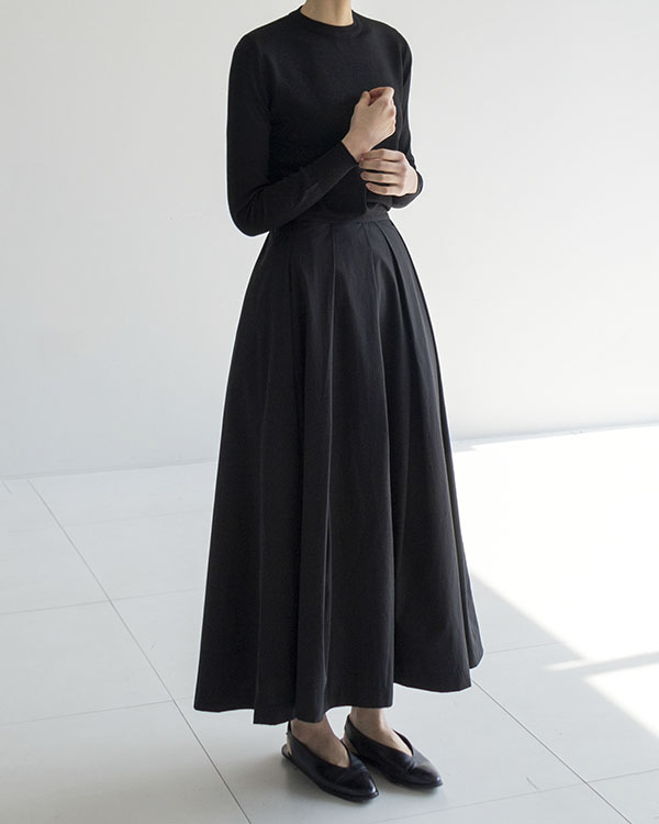 [black label] s/s classic tuck skirt (sold out, 짧은 기장, 총장 78cm)