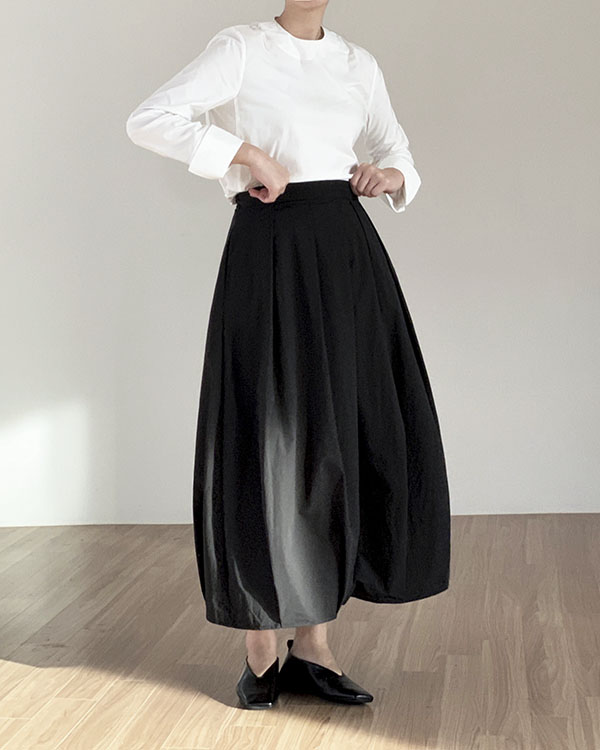 [black label] volume skirt (2021RENEWAL,sold out)