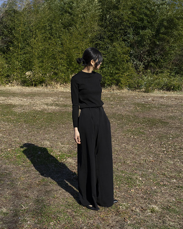 [black label] belted wide pants (sold out)