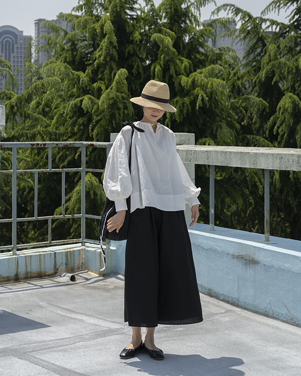 [black label] linen over blouse (sold out)
