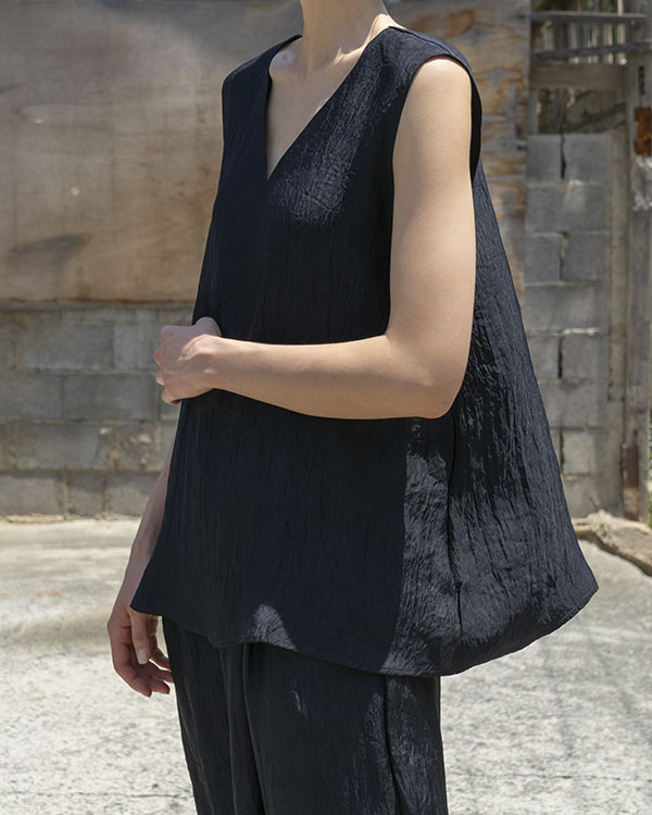 acetate sleeveless top (sold out)