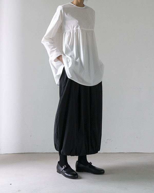 [black label] waist gathering blouse (sold out)