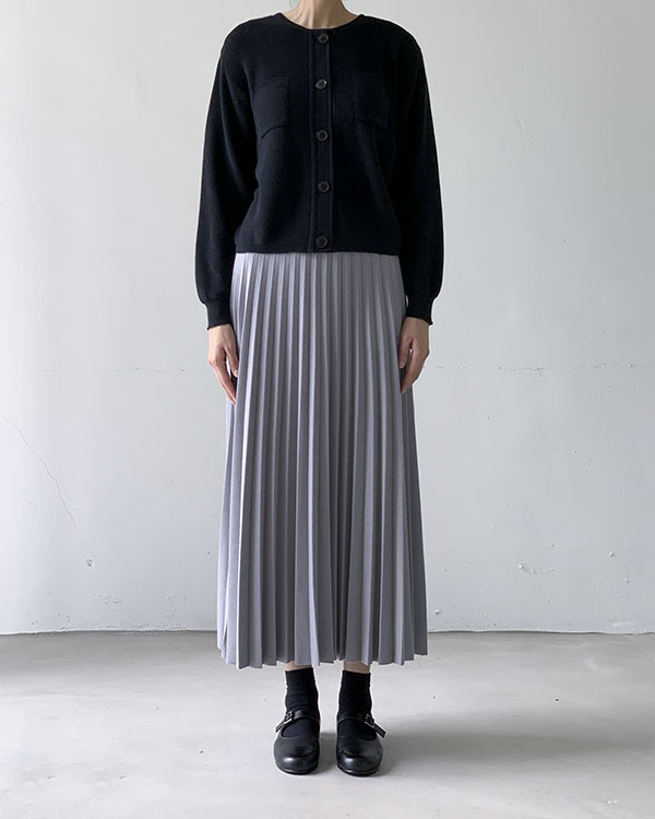 gray pleats skirt (sold out)