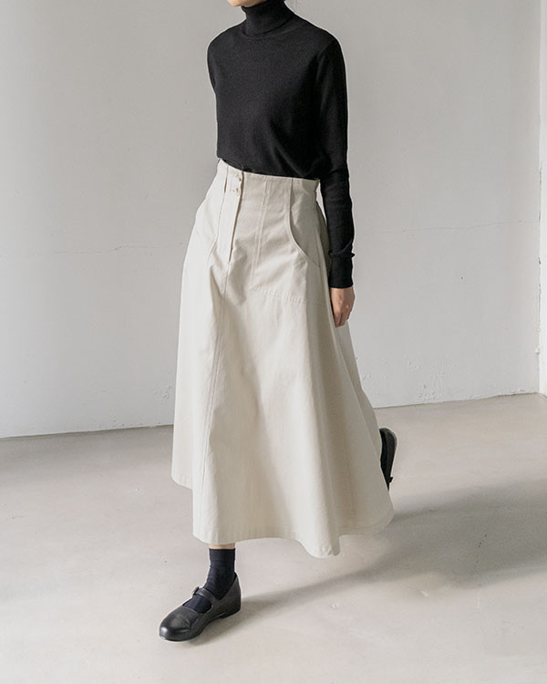 [black label] pocket twill skirt (sold out)