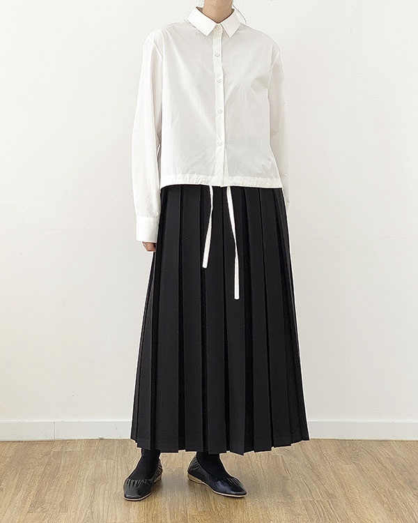 [black label] string crop shirt (reorder open, 12/1 순차 출고 예정)