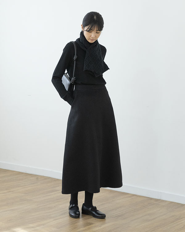 [black label] double faced wool skirt (단독 주문시 선발송)