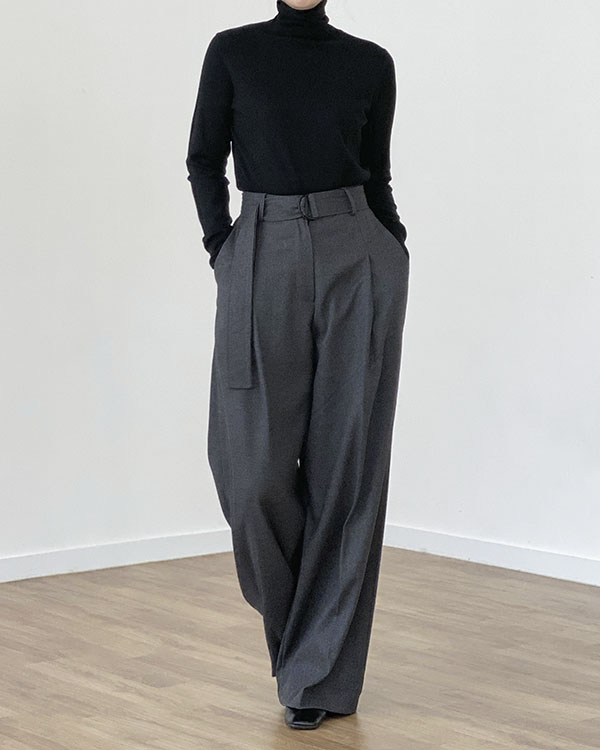 [black label] waist belted pants (단독 주문 시 선발송)