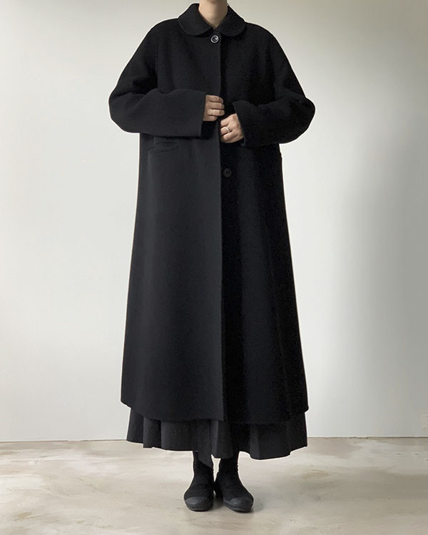 [black label] round collar long coat (reorder open, 단독 주문시 선발송)
